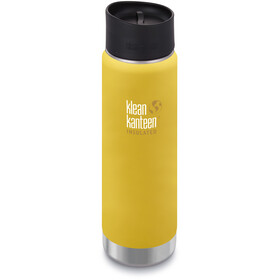 Klean Kanteen Wide Vacuum Insulated Borraccia con tappo per caffè 2.0 592ml, lemon curry matt